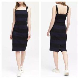 [Banana Republic] Thick Stripe Ponte Sheath Dress